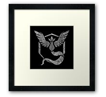 °GEEK° Team Mystic B&W Framed Print