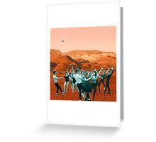 mars landing party Greeting Card