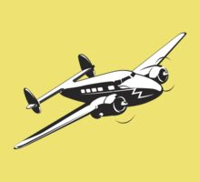 Cartoon retro airplane Kids Tee