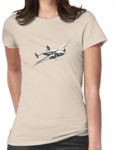 Cartoon retro airplane Womens Fitted T-Shirt