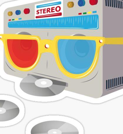 Retro player [cd] Sticker