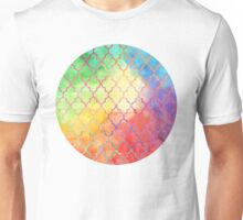 Rainbow Watercolor Moroccan Pattern Unisex T-Shirt