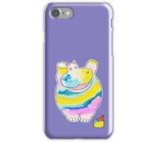 Hippo in the Paint iPhone Case/Skin