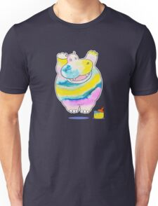 Hippo in the Paint Unisex T-Shirt