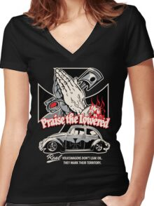 Iron Cross Beetle Women's Fitted V-Neck T-Shirt