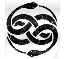 NeverEnding Story Snake Symbol Vintage Poster