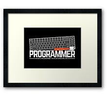 Programmer : My code needs coffee Framed Print