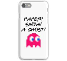 Paper, Snow, A Ghost! – Joey, Friends, Pyramid iPhone Case/Skin