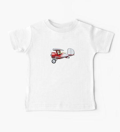 Cartoon Biplane Baby Tee