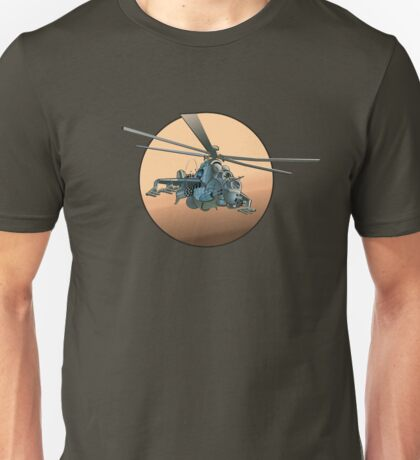 Cartoon Military Helicopter Unisex T-Shirt