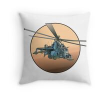 Cartoon Military Helicopter Throw Pillow