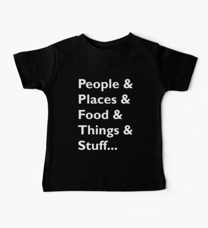 Everything Helvetica Hipster Baby Tee