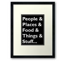 Everything Helvetica Hipster Framed Print