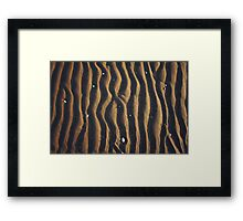Beach Grooves Framed Print