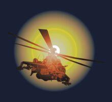 Cartoon strike helicopter Kids Tee