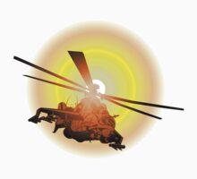 Cartoon strike helicopter One Piece - Short Sleeve
