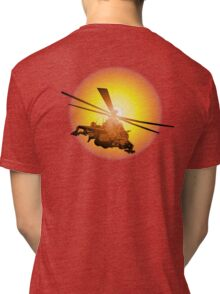 Cartoon strike helicopter Tri-blend T-Shirt