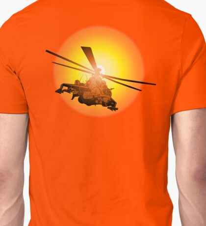 Cartoon strike helicopter Unisex T-Shirt