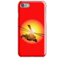 Cartoon strike helicopter iPhone Case/Skin