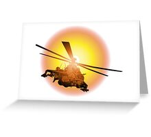 Cartoon strike helicopter Greeting Card