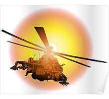 Cartoon strike helicopter Poster