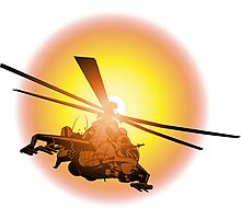 Cartoon strike helicopter Photographic Print