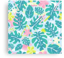 Tropical summer pattern Canvas Print