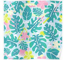 Tropical summer pattern Poster