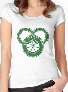 Wheel Of Time Symbol Vintage Women's Fitted Scoop T-Shirt
