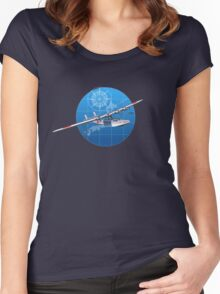 Retro hydroplane 30-40s Women's Fitted Scoop T-Shirt