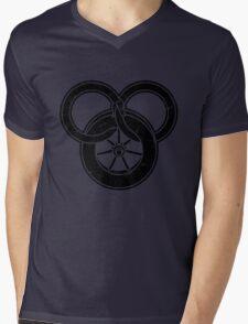 Wheel Of Time Symbol Vintage Mens V-Neck T-Shirt