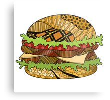 Colorful hamburger illustration Metal Print