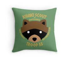 Khaki Scouts of North America Throw Pillow