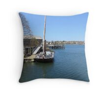 By the harbor Throw Pillow