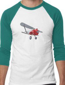 Retro biplane Men's Baseball ¾ T-Shirt