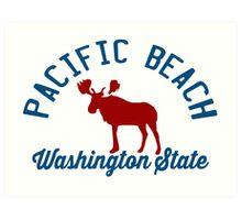 Pacific  Beach - Washington. Art Print