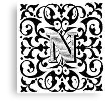 Small Cap Letter N Canvas Print