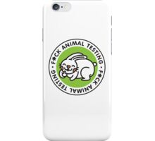 F*CK ANIMAL TESTING iPhone Case/Skin