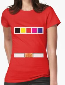 PRiS Red Ranger Uniform Womens Fitted T-Shirt