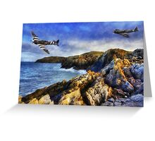 Spitfires On The Coast Greeting Card