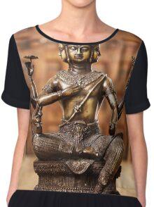 Shiva god statuette Chiffon Top