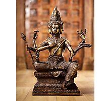 Shiva god statuette Photographic Print