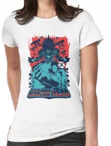 One man, one punch, one HERO. Womens Fitted T-Shirt