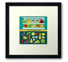 Fruits and Vegetables Market. Healthy Eating Concept Framed Print