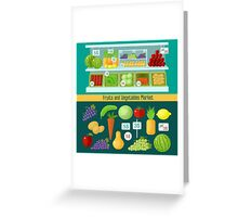 Fruits and Vegetables Market. Healthy Eating Concept Greeting Card