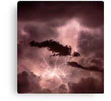 Cloudscape with thunder bolt Canvas Print
