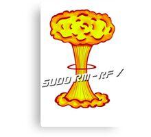 Sudo rm -rf / Canvas Print