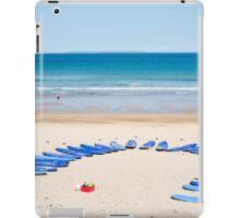 surf boards at surf school iPad Case/Skin