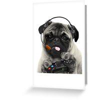 The Gaming Pug Greeting Card
