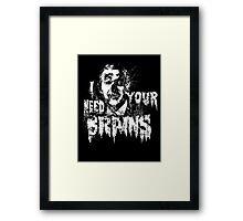 Bush For BRAINS Framed Print